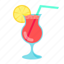 cocktail, glass, drink, bar, alcohol, beverage