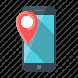 gps, map, marker, mobile, navigation, navigator, phon icon