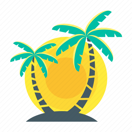 beach, holiday, palm, sunset, travel, trees, tropics icon