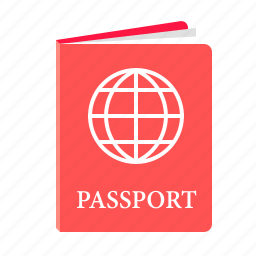document, flight, international passport, passport, travel icon