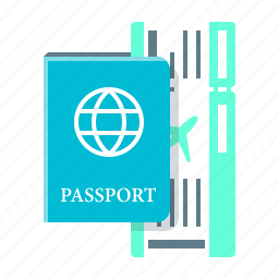 passport, recreation, ticket, travel, vacation icon