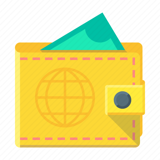 cash, currency, money, payment, purse icon