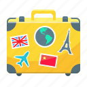 bag, baggage, luggage, suitcase, travel icon