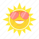 glasses, heat, hot, sun, sunglasses, temperature, weather icon