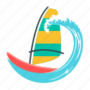 holiday, holidays, sport, wave, windsurfing, yacht icon