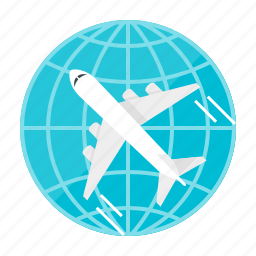 air, aircraft, flight, fly, plane, transport, travel icon