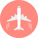 aeroplane, aircraft, airliner, airport, flight, fly, plane icon