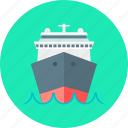 boat, marine, sea, ship, tour, transport, travel icon