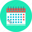 calendar, date, day, event, month, timetable icon