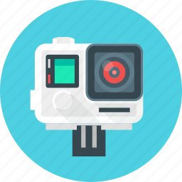 camera, device, extreme, film, go pro, photo, technology icon