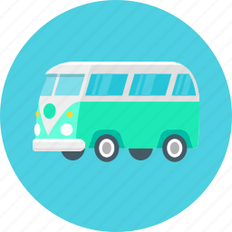 auto, bus, camper, car, transport, travel icon