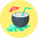 beverage, cocktail, drink, exotica, juice icon