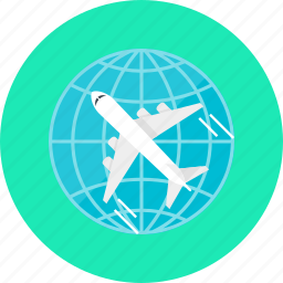 aircraft, airplane, flight, fly, plane, tourism, travel icon
