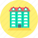 apartments, architecture, building, home, hotel, house icon