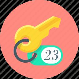 key, lock, privacy, room icon