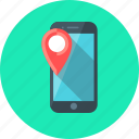 mobile, navigator, smartphone, location, marker, navigation, phone