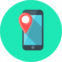 location, marker, mobile, navigation, navigator, phone, smartphone icon