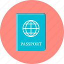 document, international passport, passport, plane, travel icon