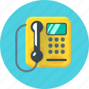 call, communication, payphone, phone, telephone icon