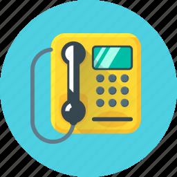 call, communication, payphone, phone, telephone icon