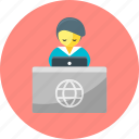 administrative, reception, registration, travel icon