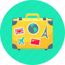 baggage, case, luggage, suitcase, travel icon
