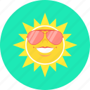 glasses, heat, sun, spectacles, summer, sunny icon