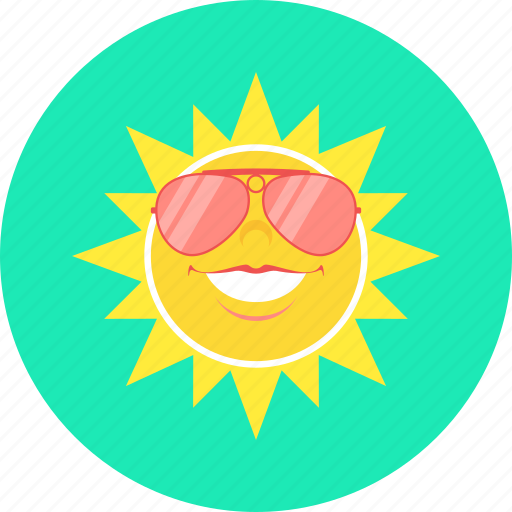glasses, heat, spectacles, summer, sun, sunny icon