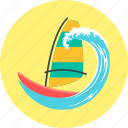 sailboat, sailing, sailing ship, windsurfing, yacht icon