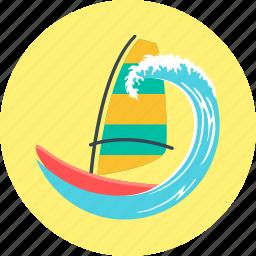 sailboat, sailing, sailing ship, windsurfing, yacht icon