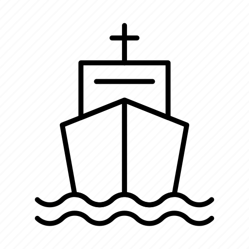 boat, cruise, sea, ship, transport, vessel icon
