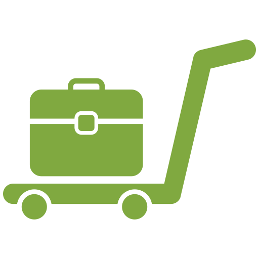 cart, delivery, hand, office bag, trolley icon