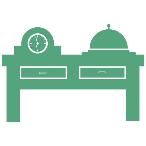 dining, hotel, table icon