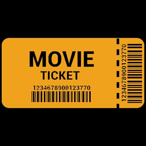 cinema, film, movie, raffle, theater, ticket icon