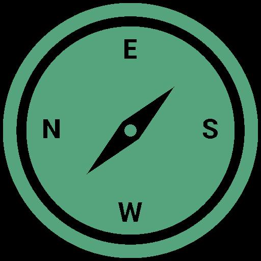 compass, hiking, navigation icon