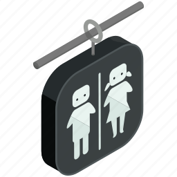 bathrooms, man, outdoor, restrooms, travel, woman icon