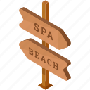 beach, directions, holiday, hotel, pointer, spa, travel