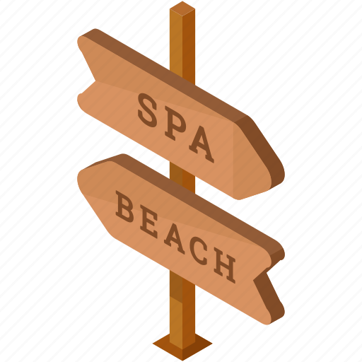 beach, directions, holiday, hotel, pointer, spa, travel icon