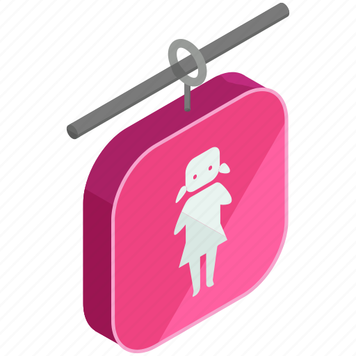 bathroom, female, hotel, outdoor, restroom, sign, travel icon