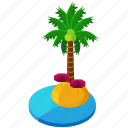 holiday, island, ocean, palm, sea, travel, tree icon