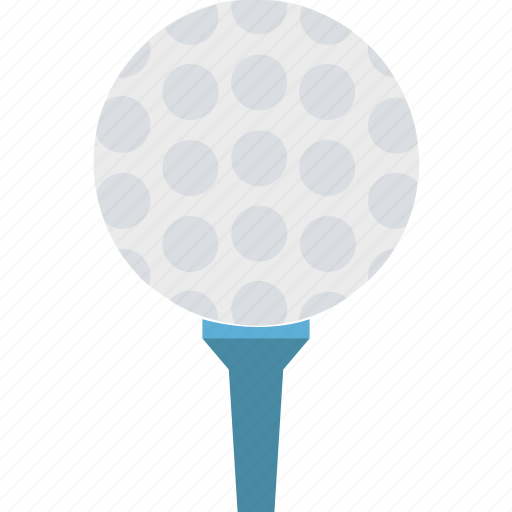 golf ball on, golf hit, golf on tee, golf tee, on tee icon