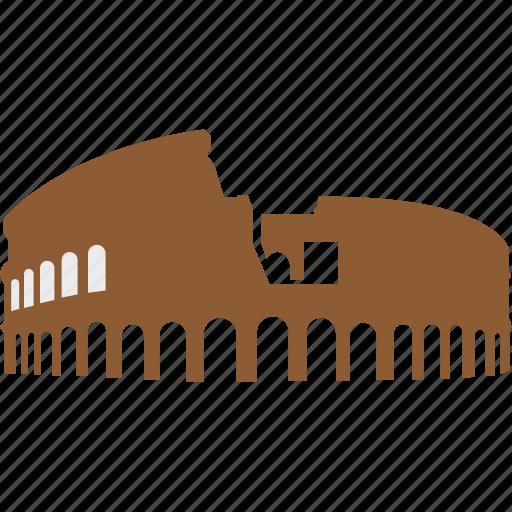 amphitheatre in rome, colosseum, italy, rome, rome city icon