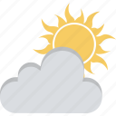 cloudy, sunny cloudy, sunrise, weather icon