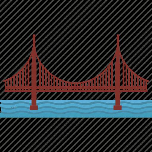 architecture, landmark, monument, tour, tower bridge icon