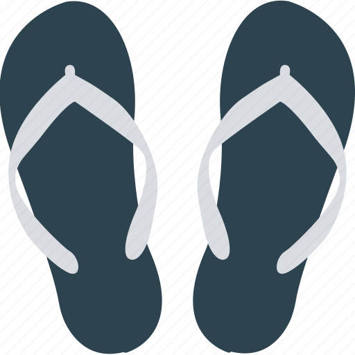 beach sandals, flat sandals, footwear, home slippers icon