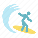 person, sea, surfboard, surfer, surfing, tourism, travel
