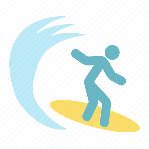 person, sea, surfboard, surfer, surfing, tourism, travel icon