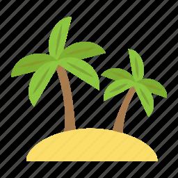 island, palm, summer, tourism, travel, tree, tropical icon