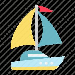 boat, nautical, ocean, sailboat, tourism, travel, yacht icon