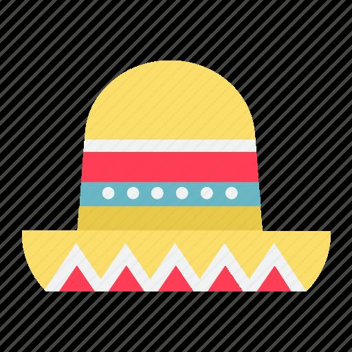 culture, hat, mexican, sombrero, tourism, travel icon